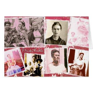 Montaje de la foto de Frida Kahlo Tarjeta De Felicitación