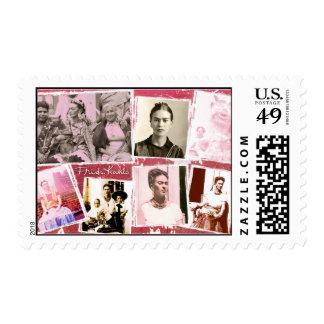 Montaje de la foto de Frida Kahlo Timbres Postales