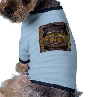 Montaje de la rueda de ruleta del casino ropa de mascota