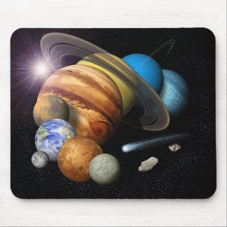 Montaje de la Sistema Solar Alfombrilla De Ratón