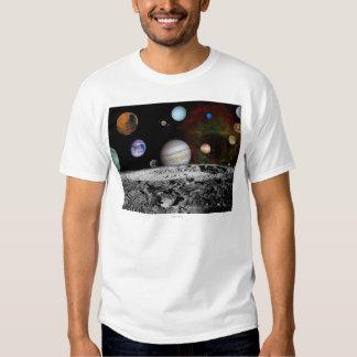 Montaje de la Sistema Solar de las imágenes del Polera