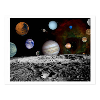 Montaje de la Sistema Solar de las imágenes del Tarjetas Postales
