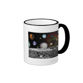 Montaje de la Sistema Solar de las imágenes del Taza De Dos Colores