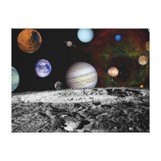 Montaje de la Sistema Solar de las imágenes del vi Impresiones De Lienzo