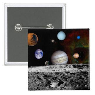 Montaje de la Sistema Solar de las imágenes del vi Pin Cuadrado