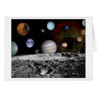 Montaje de la Sistema Solar de las imágenes del vi Tarjeta De Felicitación