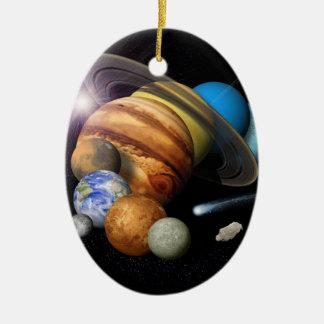 Montaje de la Sistema Solar Ornamento De Navidad
