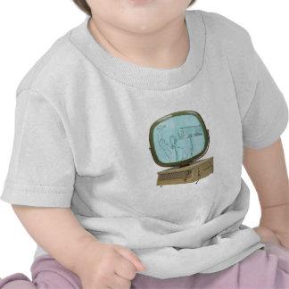 Montaje de la TV con el huelguista Camisetas