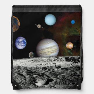 Montaje de las imágenes del viajero de la Sistema Mochila