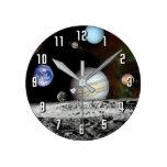 Montaje de las imágenes del viajero de la Sistema Reloj Redondo Mediano