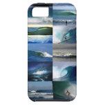 Montaje de las olas oceánicas que practica surf iPhone 5 protector