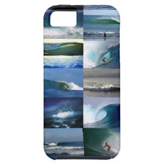 Montaje de las olas oceánicas que practica surf iPhone 5 carcasas