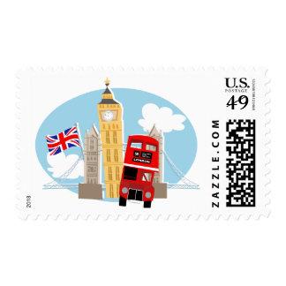 Montaje de Londres Estampillas