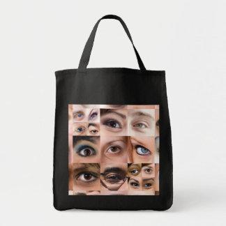 Montaje de los ojos humanos bolsas