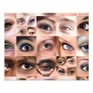 Montaje de los ojos humanos cojinete