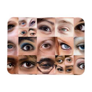 Montaje de los ojos humanos iman flexible