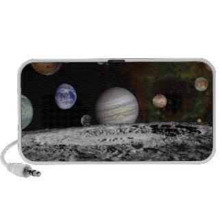 Montaje de los planetas y de las lunas de Júpiter Altavoces De Viaje