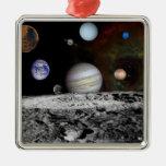 Montaje de los planetas y de las lunas de Júpiter Ornamentos Para Reyes Magos