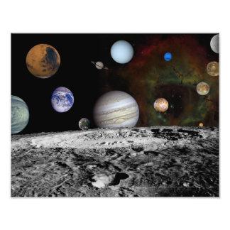 Montaje de los planetas y de las lunas de Júpiter Fotografías