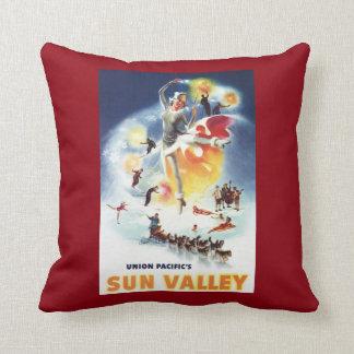 Montaje de Sonja Henje del poster de Sun Valley Cojín