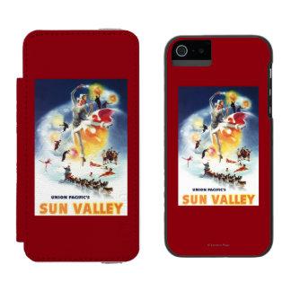Montaje de Sonja Henje del poster de Sun Valley Funda Billetera Para iPhone 5 Watson