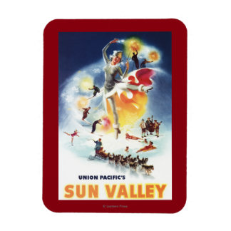 Montaje de Sonja Henje del poster de Sun Valley Imán Flexible