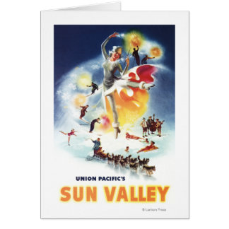 Montaje de Sonja Henje del poster de Sun Valley Tarjeta De Felicitación