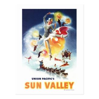 Montaje de Sonja Henje del poster de Sun Valley Tarjetas Postales