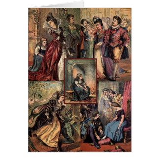 Montaje del navidad de Cenicienta del vintage Tarjeta De Felicitación