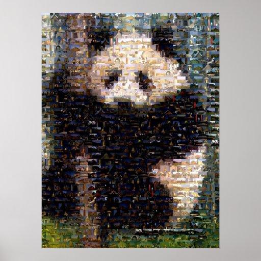 Montaje del oso de panda póster