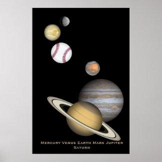 Montaje del planeta póster