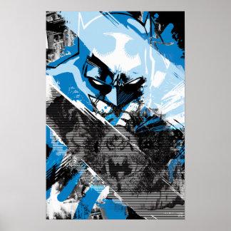 Montaje futuro del paisaje urbano de Batman Impresiones