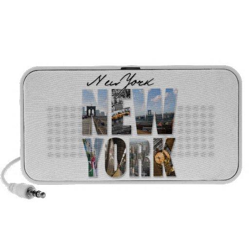 Montaje gráfico del turismo de New York City iPod Altavoces