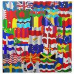 Montaje ondulado del papel pintado de la bandera servilleta de papel