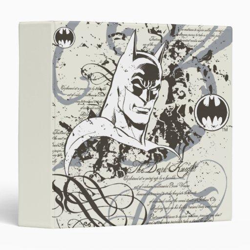 Montaje oscuro del manuscrito del caballero de Bat