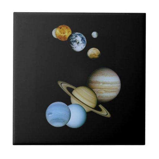 Montaje planetario teja  ceramica