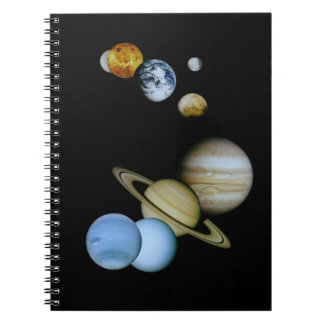 Montaje planetario libreta espiral