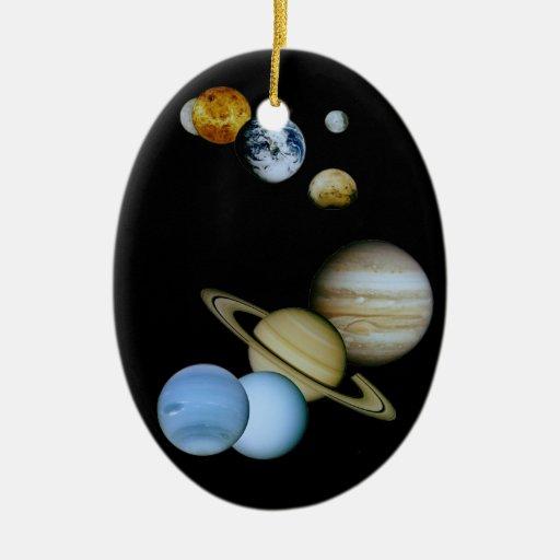 Montaje planetario ornamento de navidad