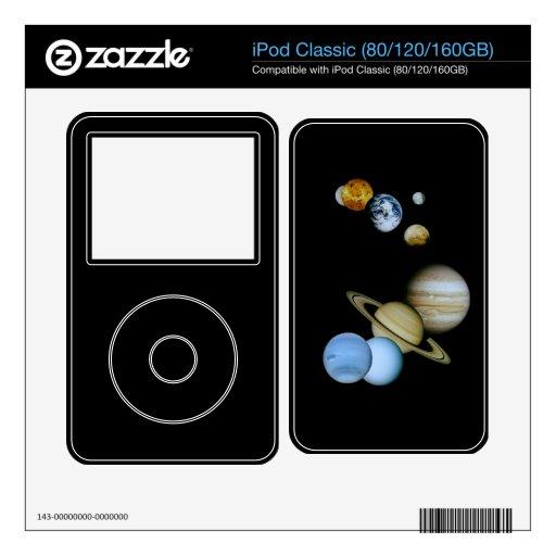 Montaje planetario iPod classic skin
