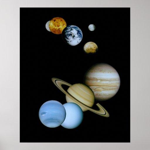 Montaje planetario impresiones