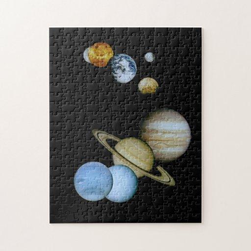 Montaje planetario puzzle
