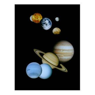 Montaje planetario tarjeta postal