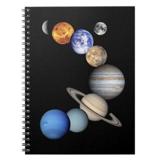 Montaje solar de Sytem Spiral Notebook