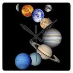 Montaje solar de Sytem Reloj De Pared