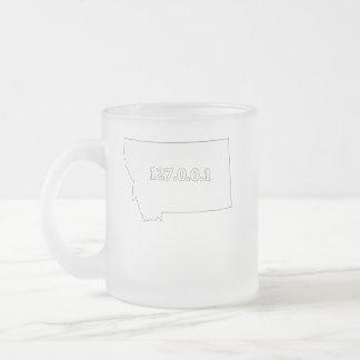Montana 127.0.0.1 Home Computer Nerd IP Address Frosted Glass Coffee Mug