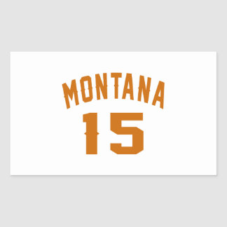 Montana 15 Birthday Designs Rectangular Sticker