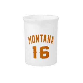 Montana 16 Birthday Designs Beverage Pitcher
