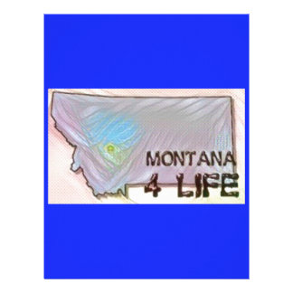"""Montana 4 Life"" State Map Pride Design Letterhead"