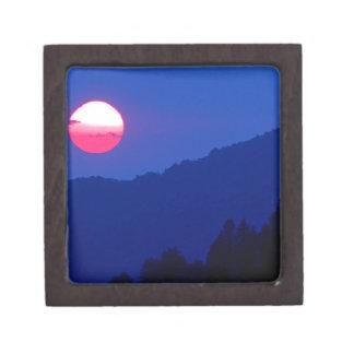 Montaña ahumada Tennessee de la puesta del sol Caja De Regalo De Calidad