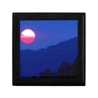 Montaña ahumada Tennessee de la puesta del sol Cajas De Regalo